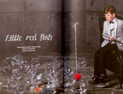 Little Red Fish for Book Moda Bambini